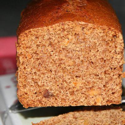 Pain d'épices peu sucré et facile à faire, à l'orange ou au gingembre ou les deux