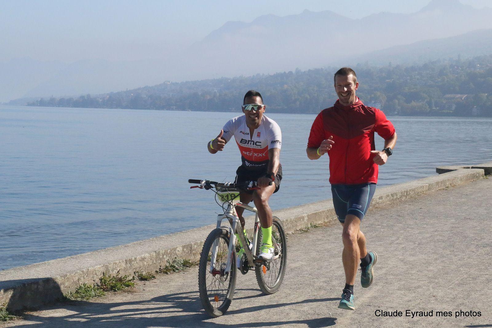 bike and run a publier - haute savoie -