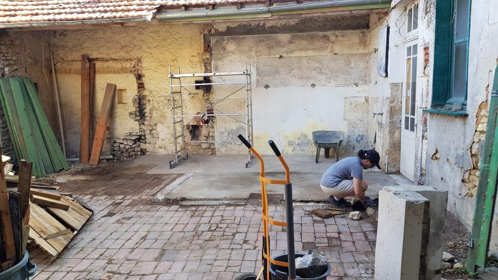 Démolition patio : nettoyage...