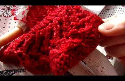 VIDEO  : tricoter une jupe en rangs raccourcis