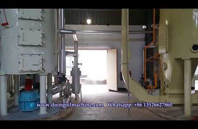 Solvent extraction process of soybean oil--soybean oil solvent extraction plant