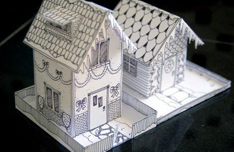 Petite maisonnette de NOEL à imprimer