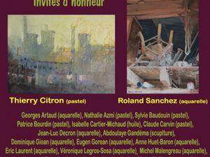 Agréables moments avec Catherine Delpuech, Roland Sanchez, OlivierPhilippot et le pastelliste Thierry Citron!