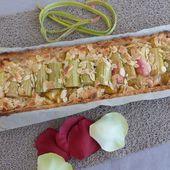 Tarte à la Rhubarbe et à la Pomme, Pâte sans Gluten -