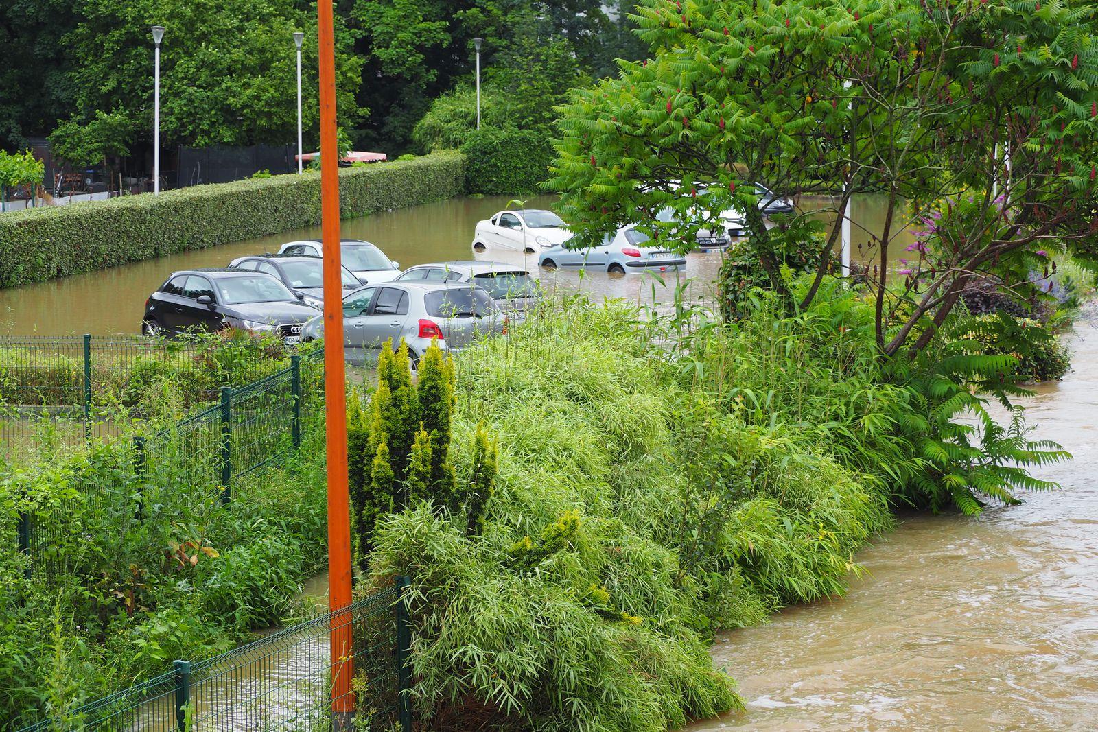 14.7.2021 Second parking du centre ville sous les eaux