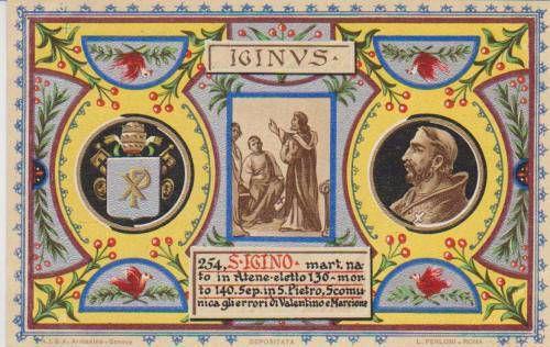 11 Gennaio: Sant'Igino Papa