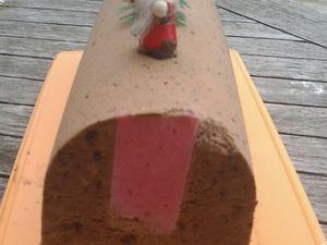 Bûche à la mousse au chocolat et son insère framboise au Kitchenaid