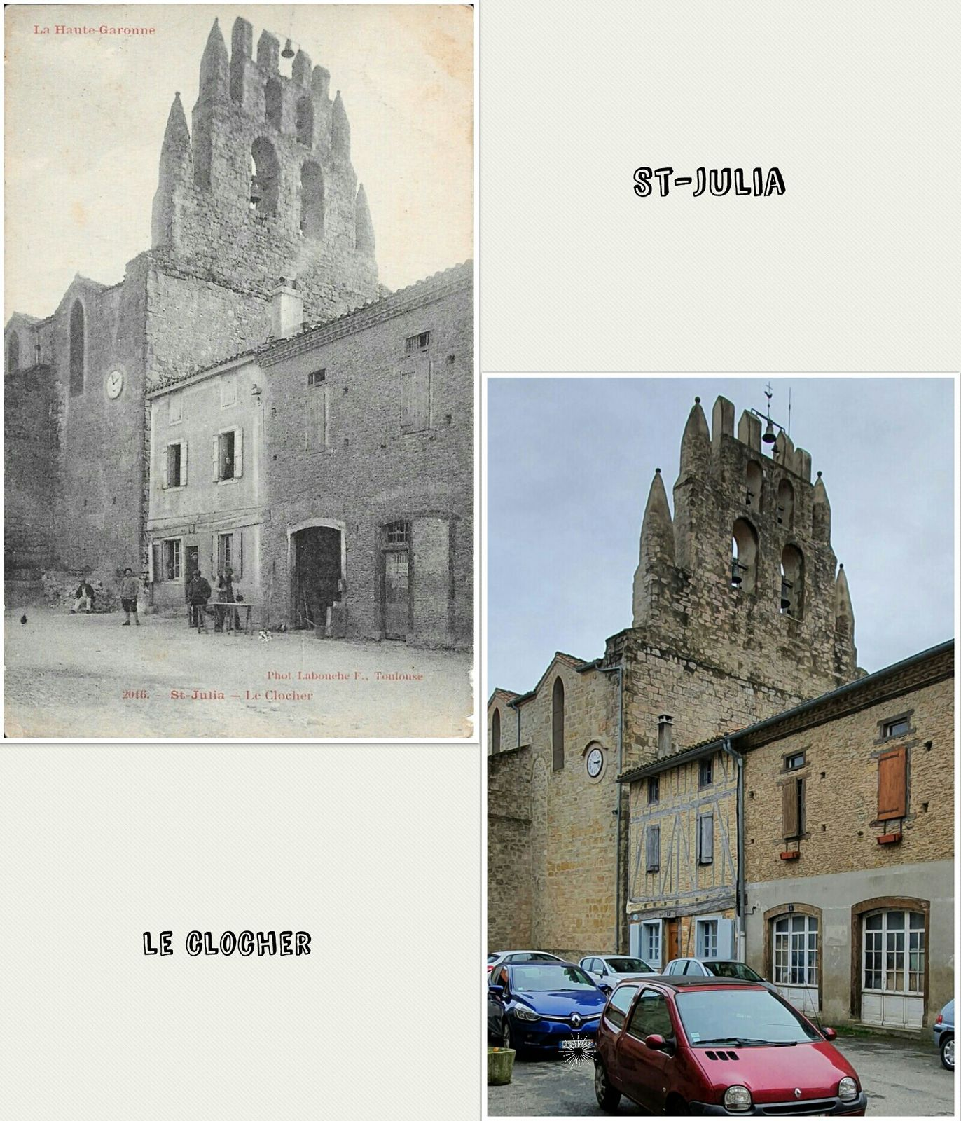 ● Clochers d'antan/d'aujourd'hui, Lauragais, Hte Garonne.