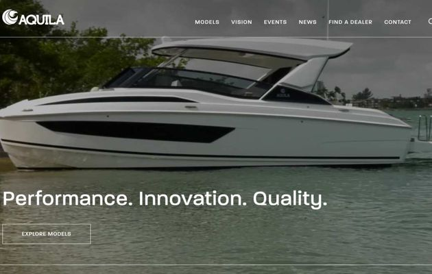 Boating Industry - A New Website for Aquila Power Catamarans