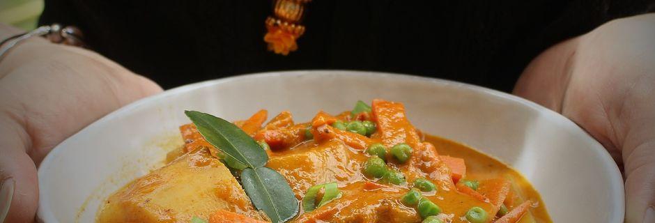 Curry de Légumes à l'Indienne et au Combava