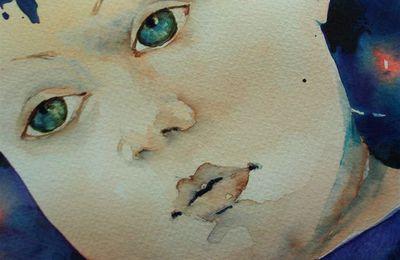portrait d'enfant aquarelle