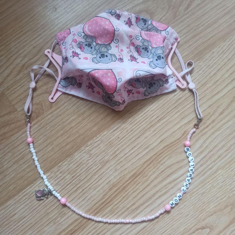 Perles : Collier pour masque de la part d'Anakyne pour sa copine Lylou