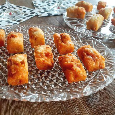 Financiers apéritif parmesan / chorizo - pour utiliser vos blancs d'oeuf !