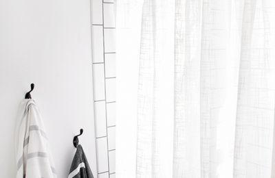 Anneaux de rideau en liens de cuir