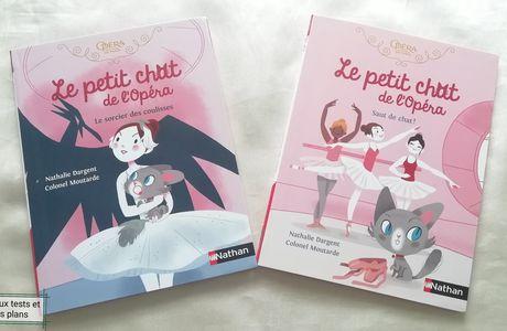 Princesse découvre deux romans jeunesse Le petit chat de l'Opéra des Editions Nathan