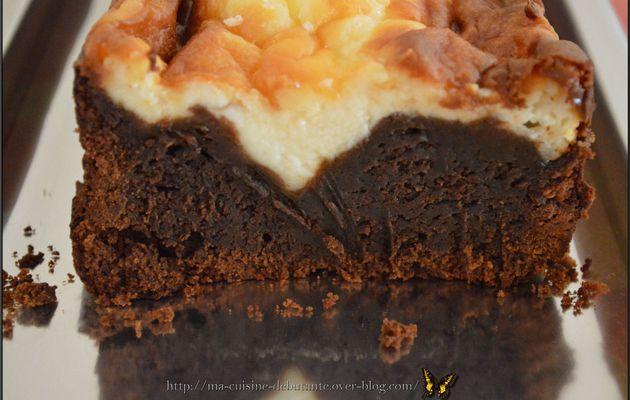 Gâteau bi couche chocolat mascarpone