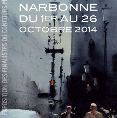 biennale aquarelle Narbonne 2014