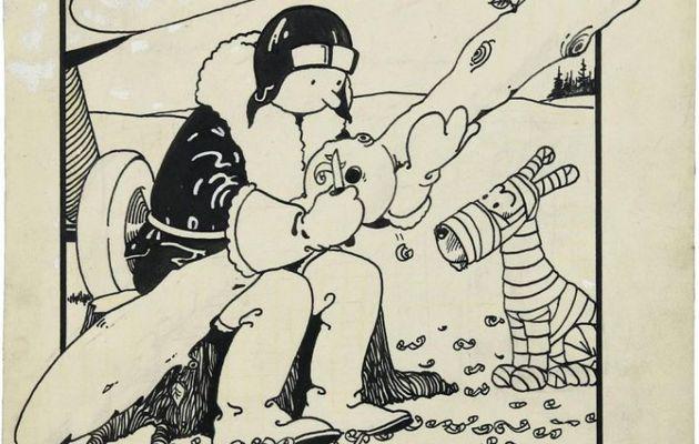 La première couverture de Tintin vendue 1,1 million de dollars