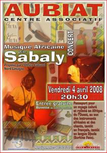 SABALY : Musique africaine - vendredi 4 avril 2008