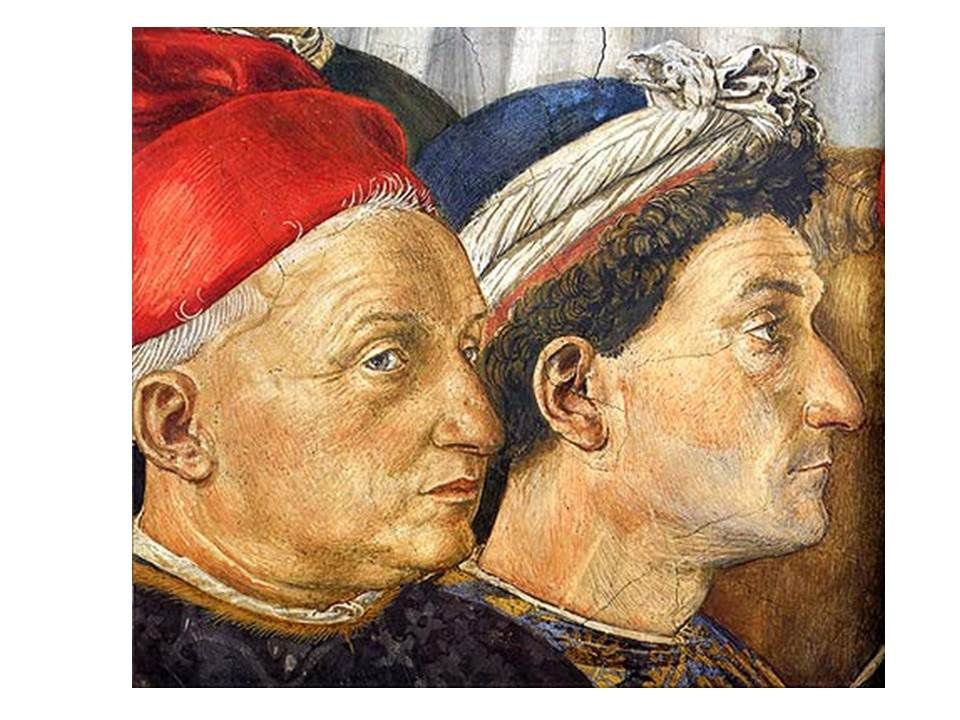 portraits du quattrocento et quelques flamands avec des citations d'artistes contemporains