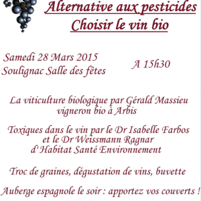 Alternative aux pesticides, choisir le vin bio