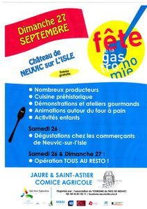 Agenda des Festivités autour de Saint Astier - Neuvic Septembre 2015