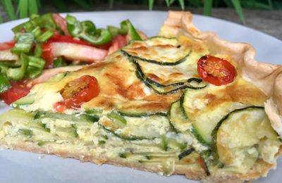 tarte millefeuille aux courgettes