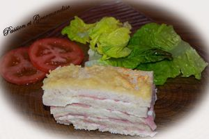 "Croque Monsieur ""version millefeuille"""