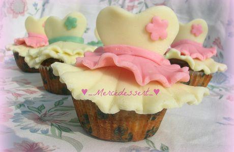Cupcakes danseuses en pâte à chocolat