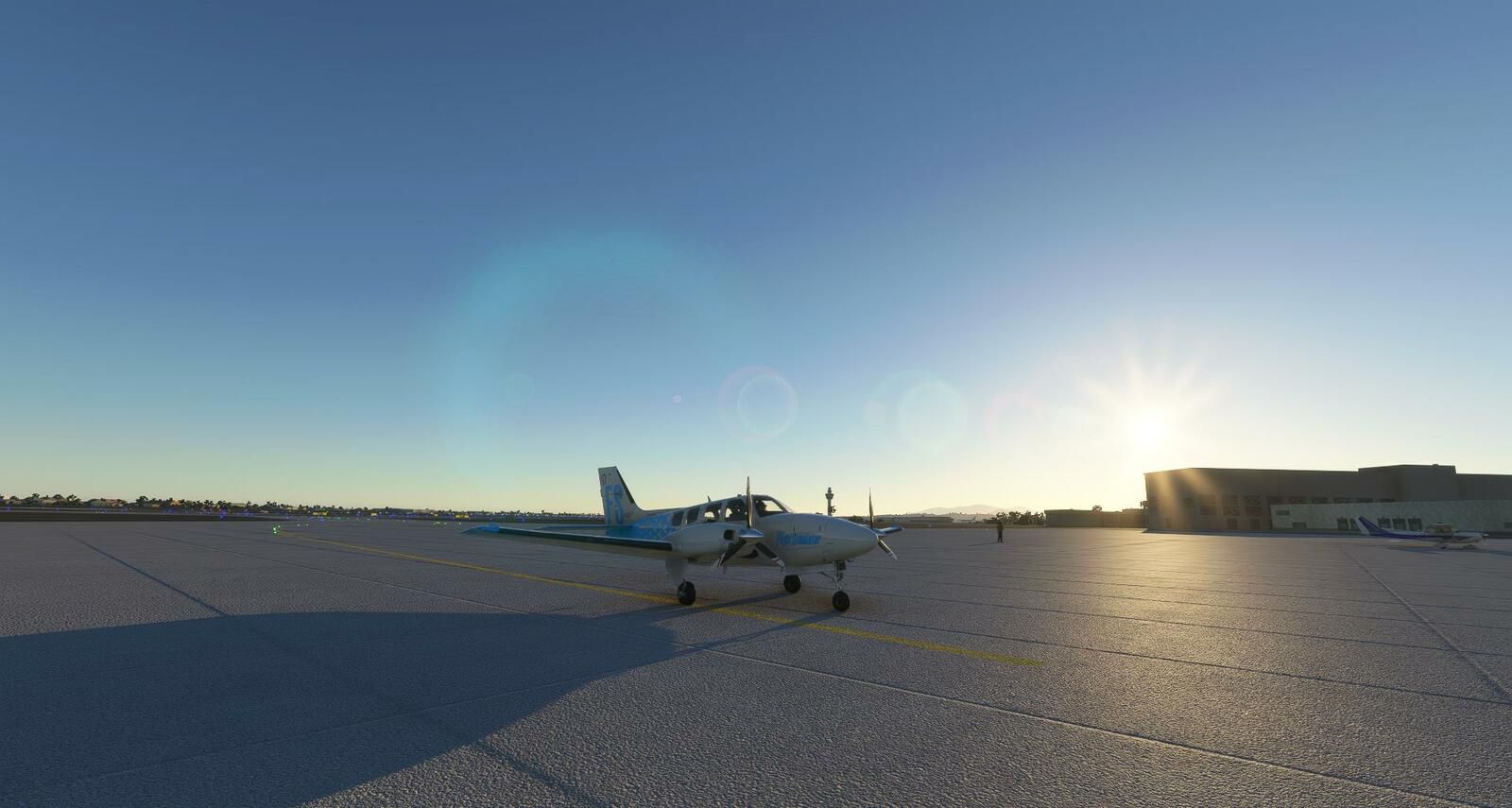 Le Baron 58 restera 24h00 de plus sur le tarmac de l'aéroport international de Hualien...