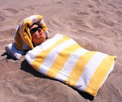 Les bains de sable à Merzouga