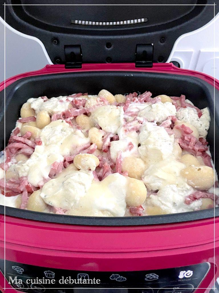 Gnocchis au Boursin bacon avec le cake factory