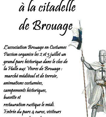 Ce week-end fête médiévale de Brouage