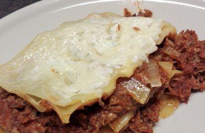 Lasagnes au plat de côtes de boeuf et toastinettes