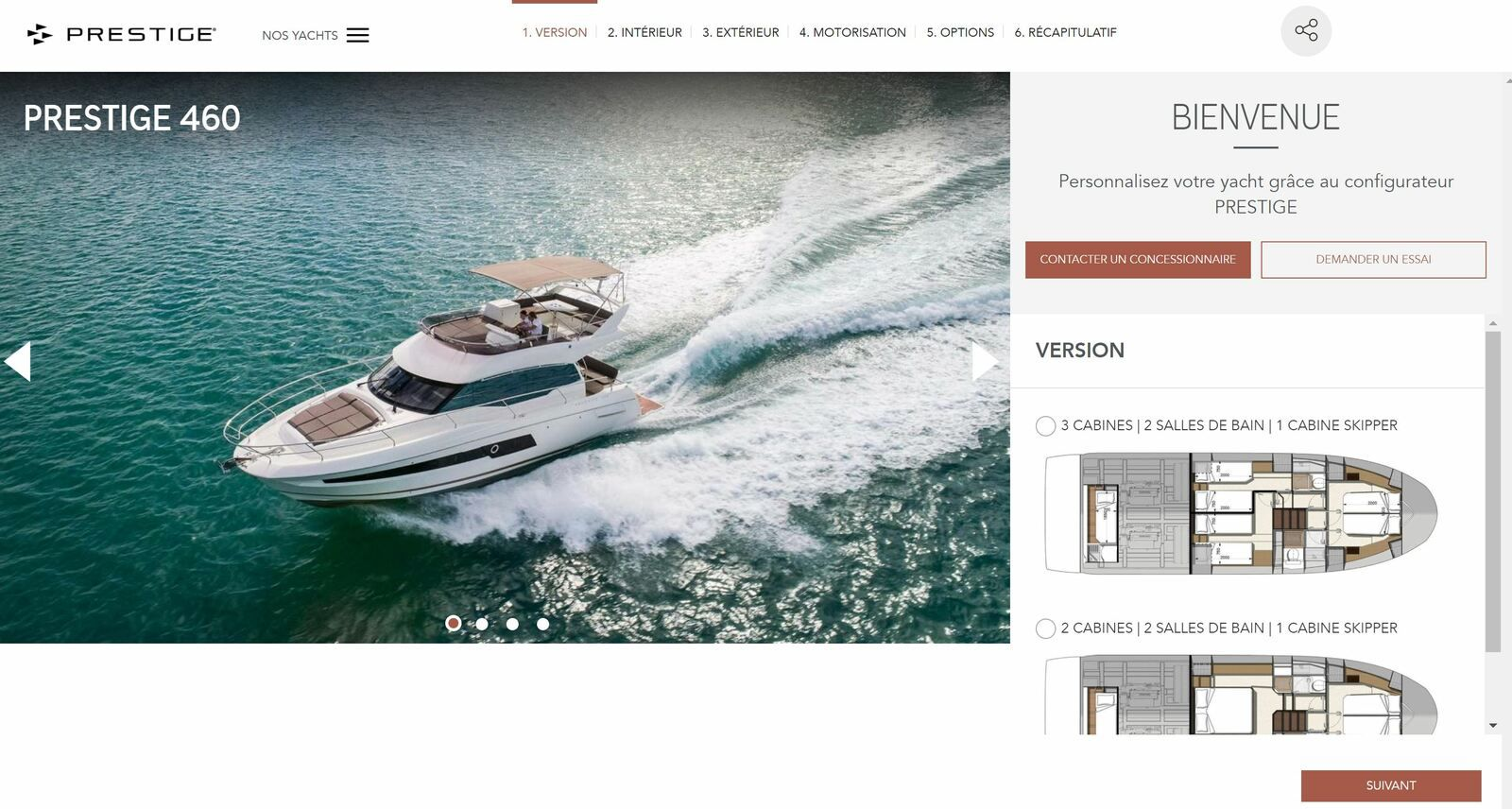 Prestige Yachts - an online configurator to customize your motoryacht