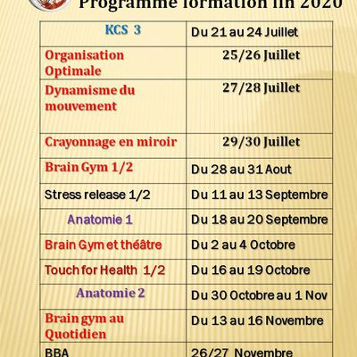 Programme Formation fin 2020