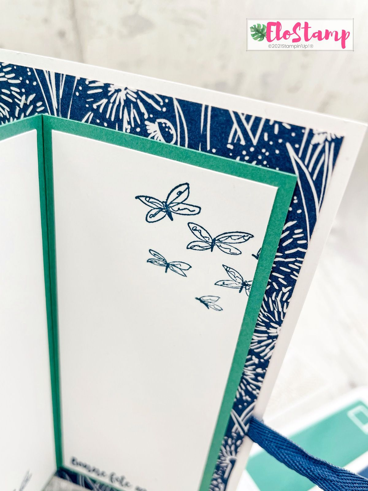Live Facebook : Fun fold card toute en délicatesse