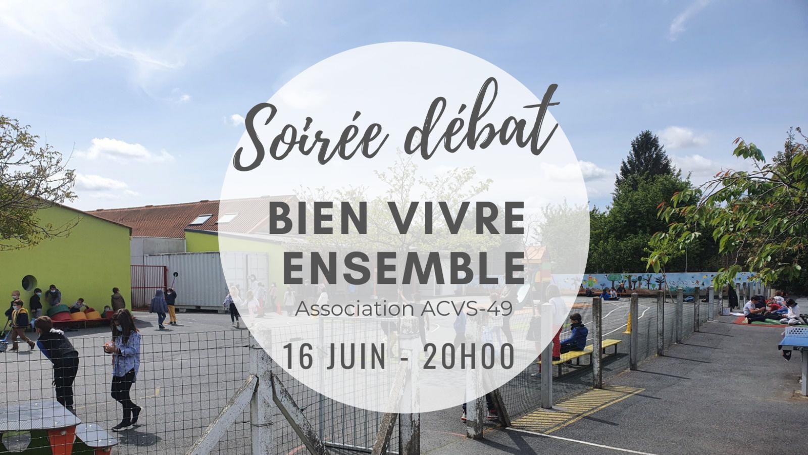 """Soirée-débat """"Bien vivre ensemble"""" - Mercredi 16 juin, 20h"""