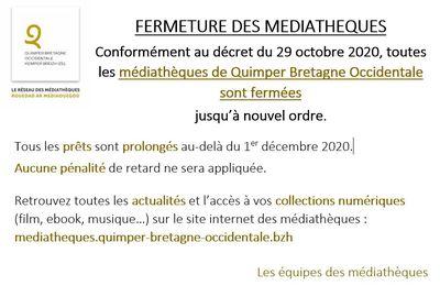 Confinement 2 : fermeture des médiathèques de QBO, mise en place d'un Click & collect (communiqué)