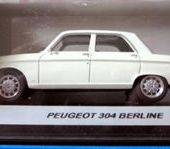 PEUGEOT 304 BERLINE BLANCHE PROVENCE MOULAGE 1/43. - car-collector.net: collection voitures miniatures