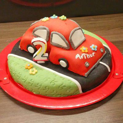 Gâteau voiture 3D