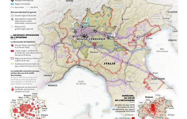 """Dans Le Monde, un récit terrible: """"Italie, et l'épidémie déferla sur la Lombardie"""""""
