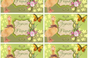 Etiquettes cadeau Pâques