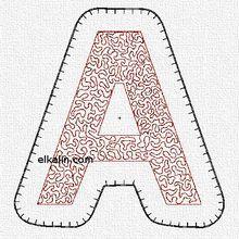 ABC appliqué quilté, la lettre A