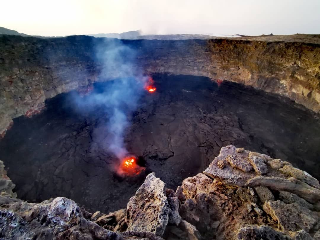 Erta Ale , pit-crater sud - photo Seifegebreil Shifferaw / Aventure & volcans 02.12.2020