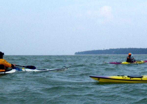 Sortie kayak vers la côte noroît
