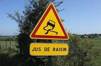 Signalisation sur les routes des vins