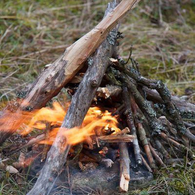 "Démarrer un feu, les ""amadous"""