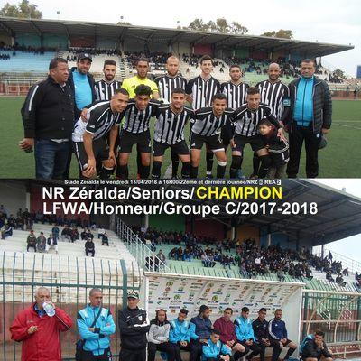 NRZ 6 IREA 2 - Fin de saison/12-04-2018 et Zeralda CHAMPION du Groupe C/LFWA 2017-2018
