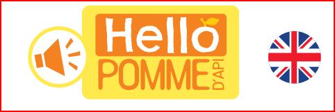 Hello Pomme d'Api, la nouvelle collection Bayard Jeunesse de 6 livres sonores pour apprendre l'anglais dès 3 ans